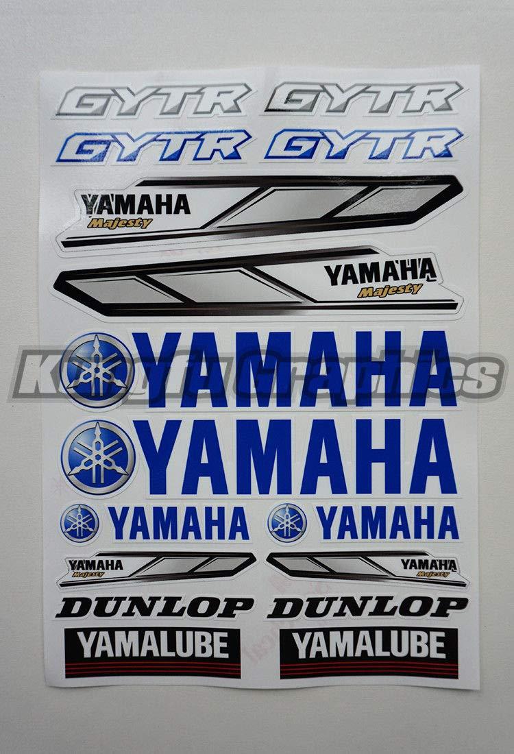 White Kungfu Graphics FMF Micro Sponsor Logo Racing Sticker Sheet Universal 7.2x 10.2 inch