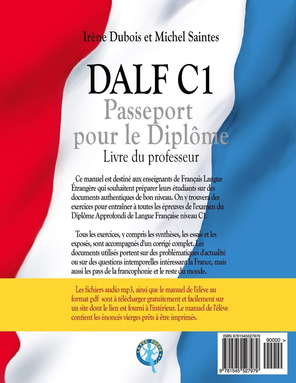 Buy Dalf C1 Passeport Pour Le Diplome Livre Du Professeur