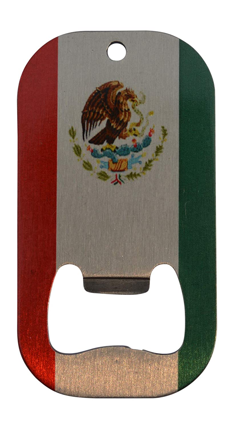 Mexico Flag Bottle Opener Heavy Duty Stainless Steel Mexican National MX