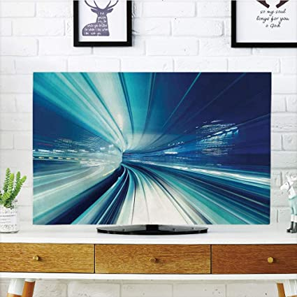 Amazon com: YCHY LCD TV dust Cover,Abstract Decor,Train