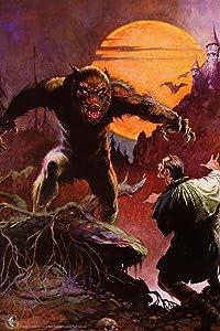 Wolfman by Frank Frazetta Retro Horror Comic Book Magazine Spooky Scary Halloween Decorations Cool Wall Decor Art Print Poster 24x36