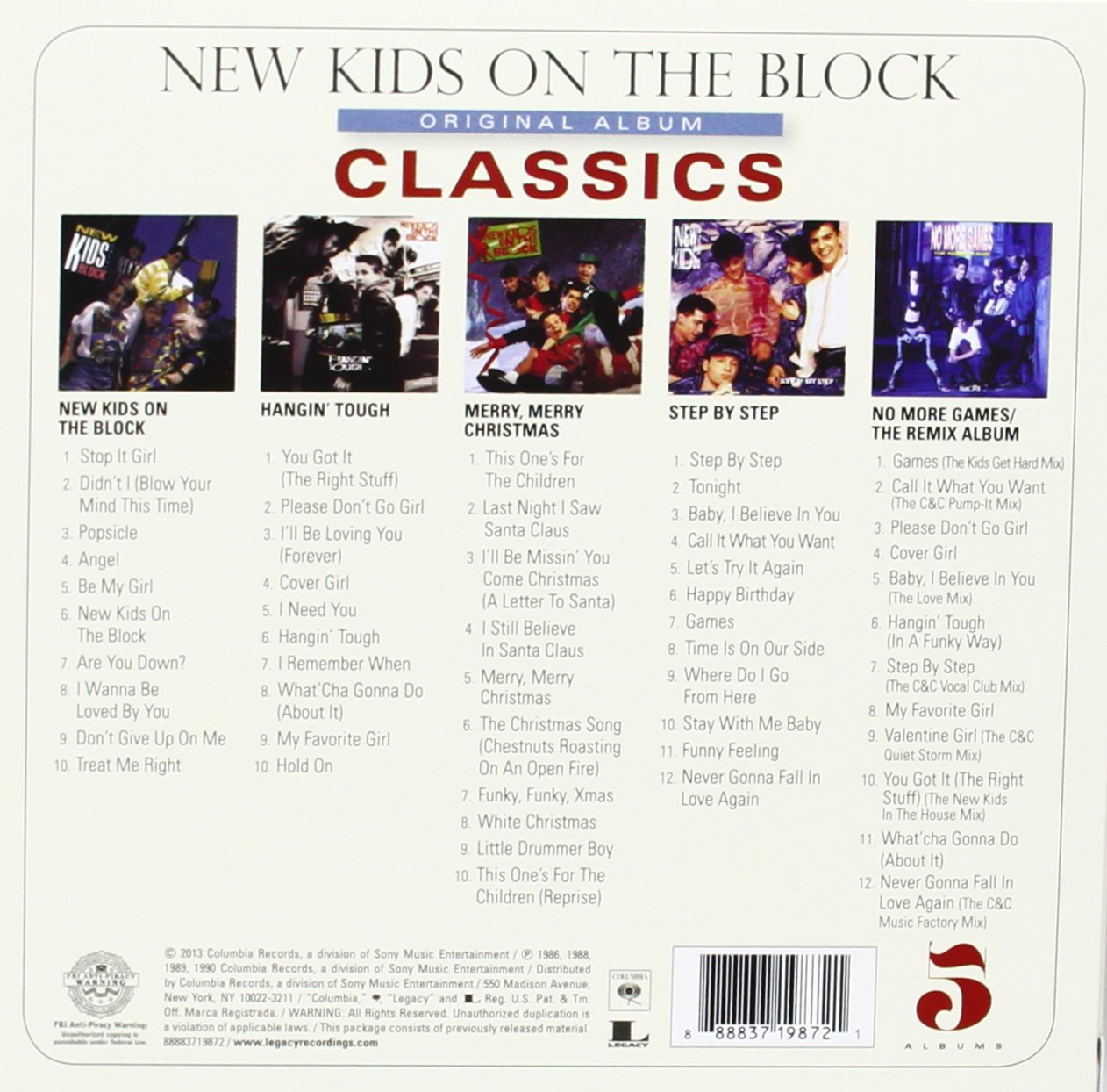 New Kids On The Block Original Album Classics Amazoncom Music