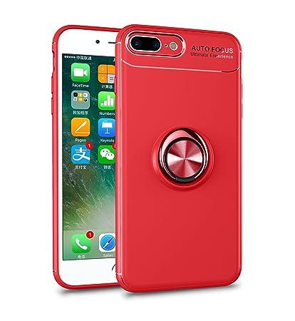 Leton Funda iPhone 8 Plus Silicona Anillo Ring Rojo Carcasa ...