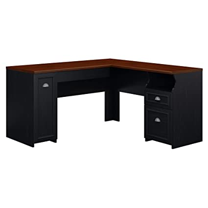Bush Furniture Fairview L Shaped Desk in Antique Black - Amazon.com: Bush Furniture Fairview L Shaped Desk In Antique Black