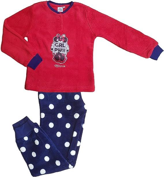 Pigiama Invernale Bimba bambina Pile Mod Serafino DISNEY MINNIE MOUSE HS7167