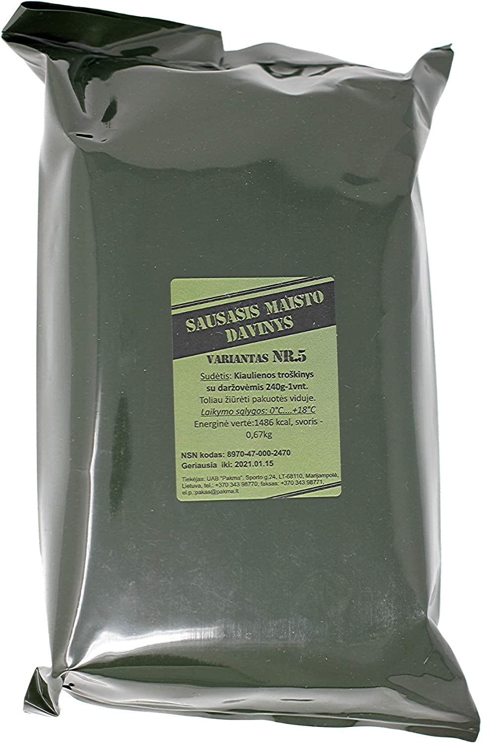 Lithuanian Army MRE ration pack (1 pack) Long Shelf Life: Amazon.es: Deportes y aire libre