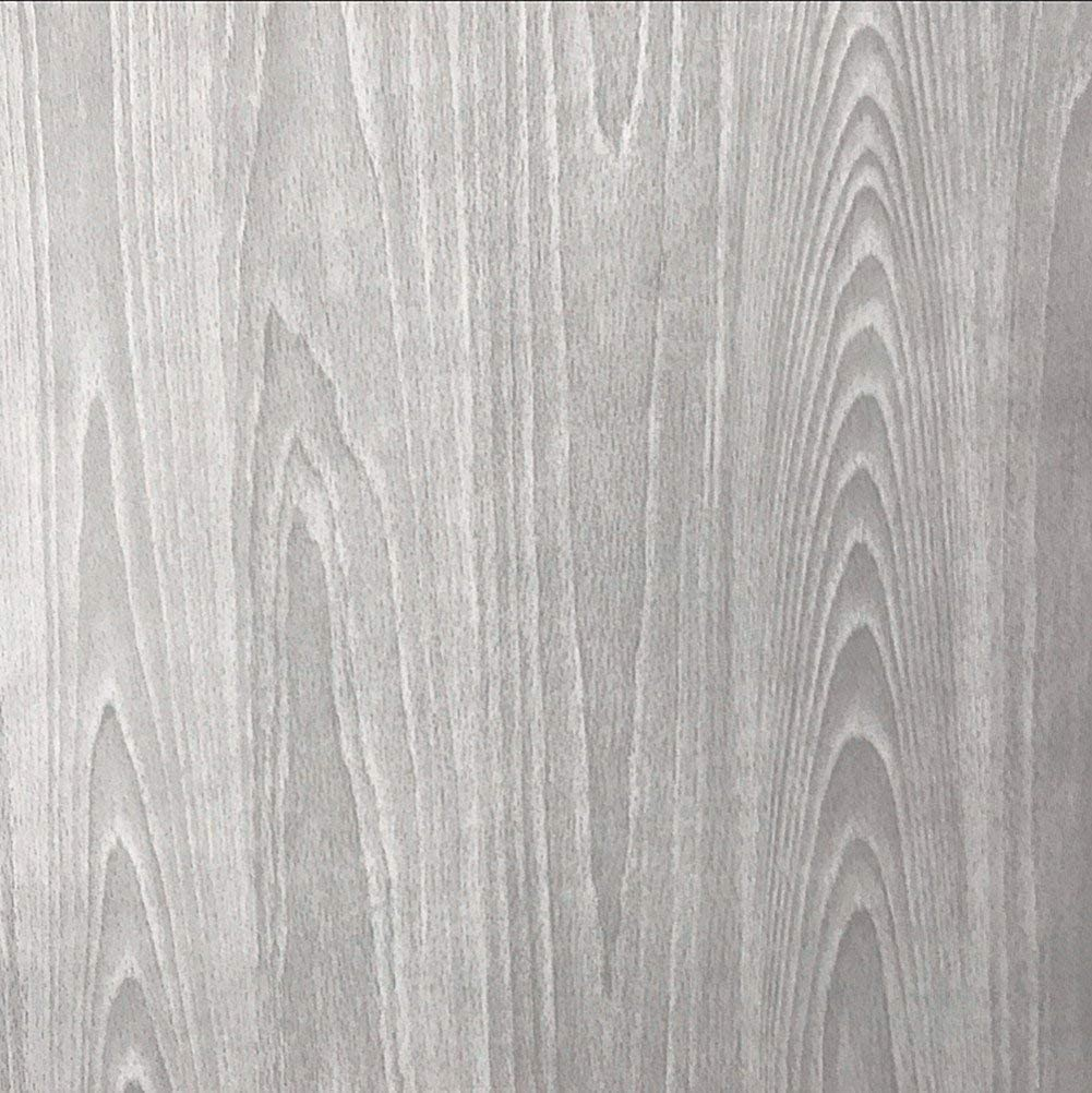 45 x 250 cm con venature del Legno Carta da Parati autoadesiva Colore: Grigio WDragon