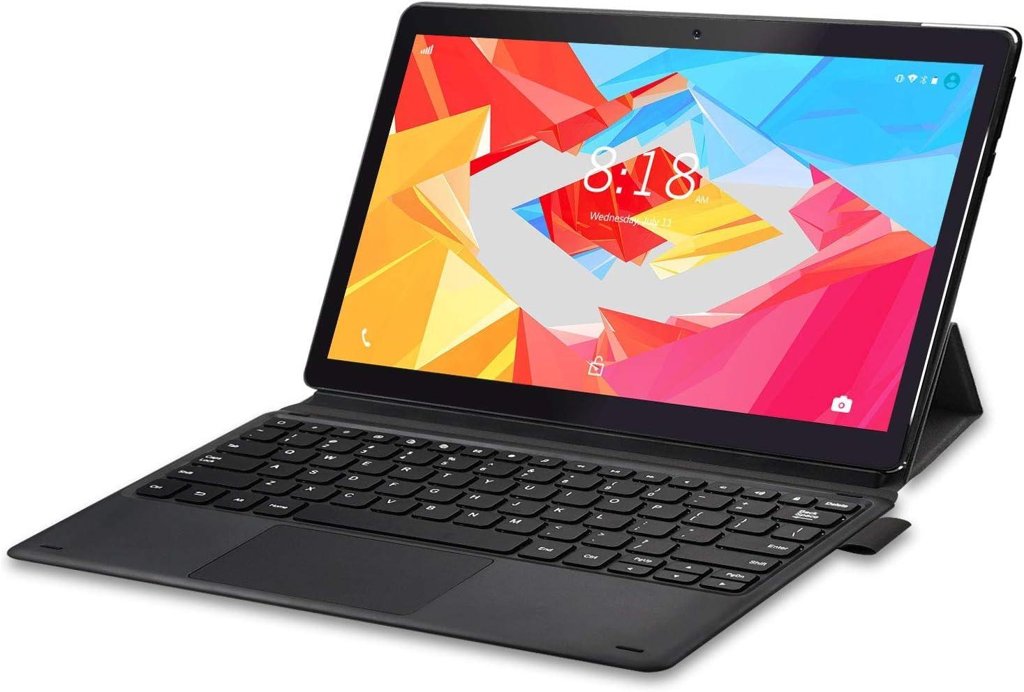 LNMBBS X116 Tablet PC 2 en 1 11.6 Pulgadas, 6GB de RAM y 128GB Memoria Tableta 10 Núcleos Procesador Android 9.0 Tablet 8000mAh Batería y 1920*1080 FHD IPS, Doble 4G y Doble Banda WiFi, HDMI (Negro)