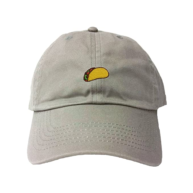 37984fac059 Amazon.com  Go All Out Adjustable Grey Adult Taco Embroidered Dad ...