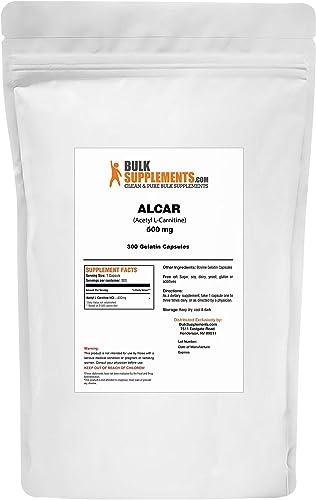 BulkSupplements.com ALCAR HCl Acetyl L-Carnitine HCl 300 Gelatin Capsules