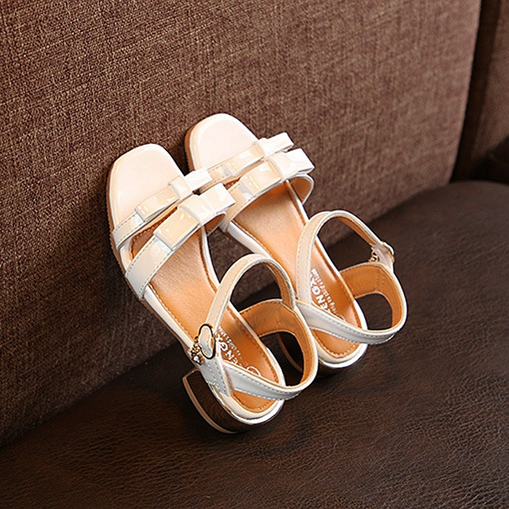 Toddler//Little Kid CYBLING Girls Open Toe Strap Sandals Bowknot Summer Low Heel Princess Dress Shoes