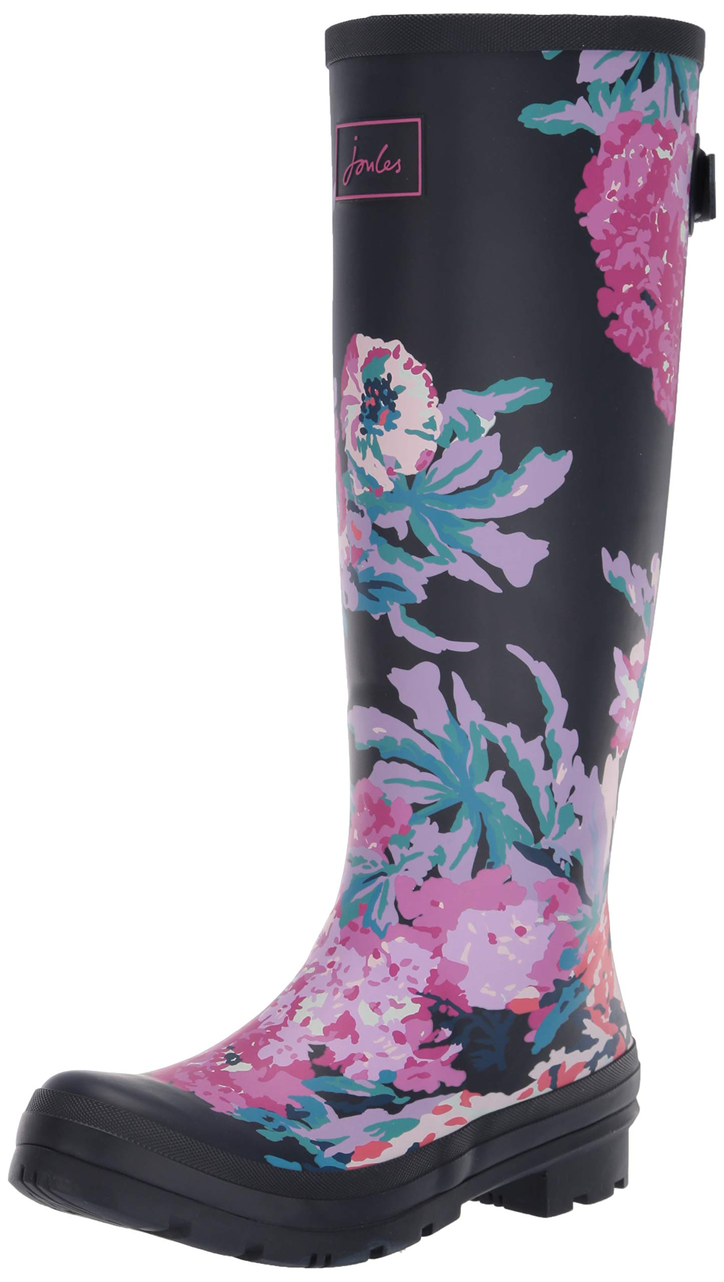 Joules Women's Welly Print Rain Boot, Navy All Over Floral, 9 Medium US
