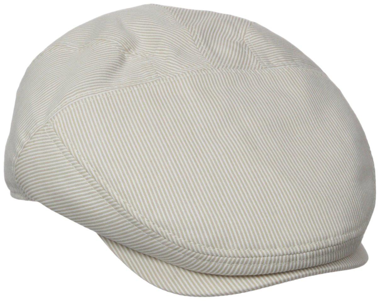 Henschel Men's New Shape Pinstripe Ivy Hat, Brown/Beige, Medium by Henschel