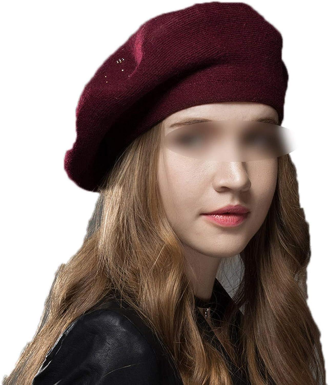 Winter Hat Berets Wool...