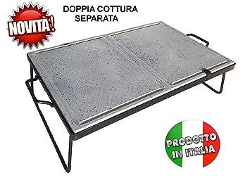 piastra pietra ollare lavica cottura dietetica 60x40 cm + omaggio ... - Cucinare Con La Pietra Ollare