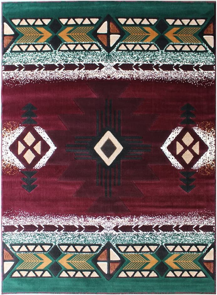 Native American Indian Print Turquoise Round Throw Blanket Southwest Design