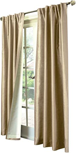 Common Wealth Home Fashions Ming Lined Faux Silk Panels, 104 x 95