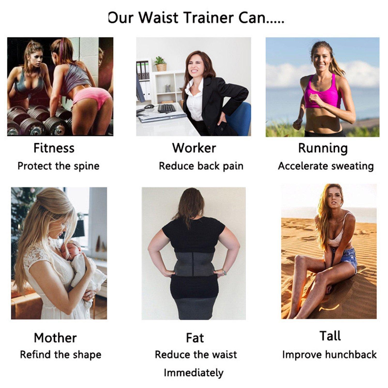 Kimikal Women Latex Waist Trainer Underbust Steel Boned Corset