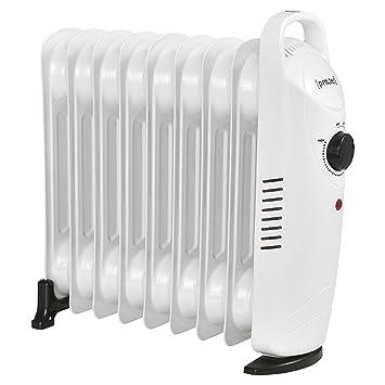 [pro.tec] Radiador de Aceite eléctrico 9 Elementos 39 x 13,4 x 37 cm Portátil Potencia 1000W Calefacción CEE 7/7 Termostato Regulable Blanco: Amazon.es: ...