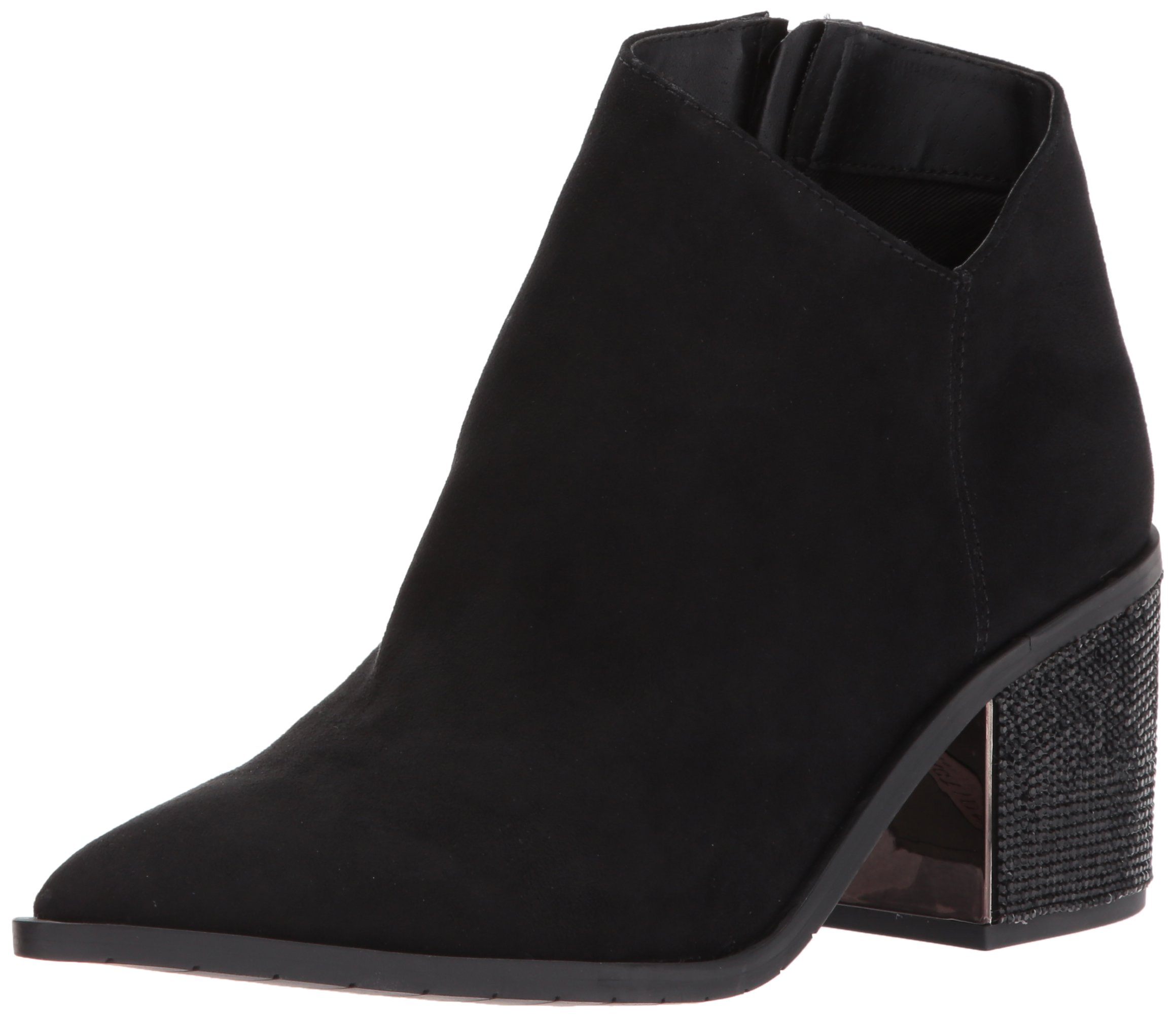 Kenneth Cole REACTION Women's Cue The Music Notch Western Style Micro Ankle Bootie, Black, 6 M US