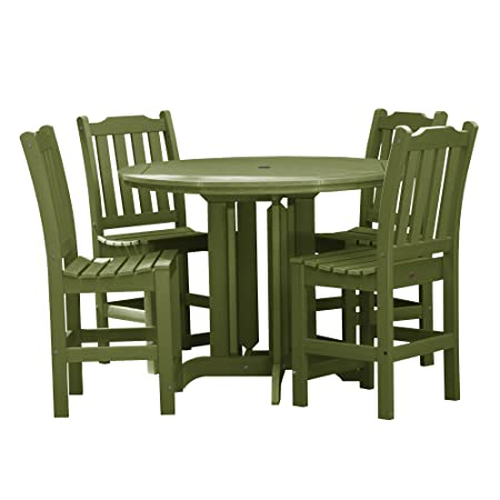 highwood AD-CNL48-SGE Lehigh 5-Piece Round Counter Height Dining Set, Dried Sage