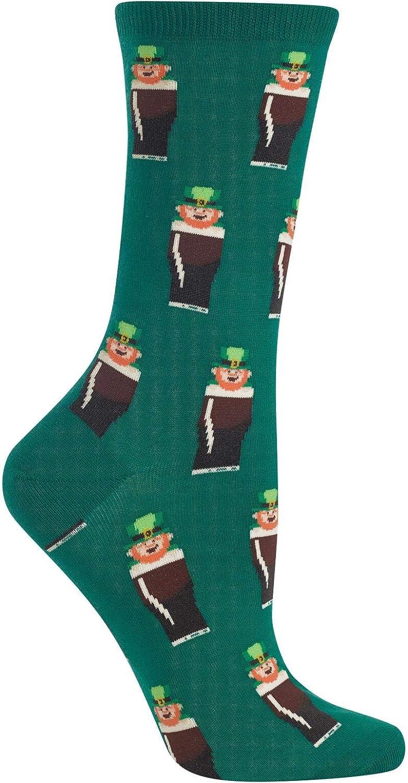 Hot Sox Womens Leprechauns Crew Socks