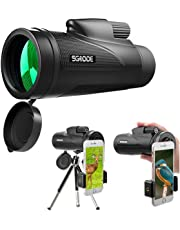 HD Telescopio Monoculare 12x50 SGODDE with Phone Adapter and Tripod best choice for traveling/Sport competition watching/Sightseeing/Hunting