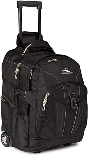High Sierra XBT-Business Rolling Backpack, Black, One Size,58002-1041