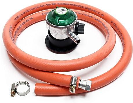 WilTec Manguera de Gas 1.5my regulador de presión 30mbar Accesorios bombonas Gas Hornillo Camping España