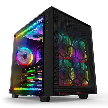 anidees AI Crystal Cube Mesh Caja de Juegos de PC ATX de Vidrio ...
