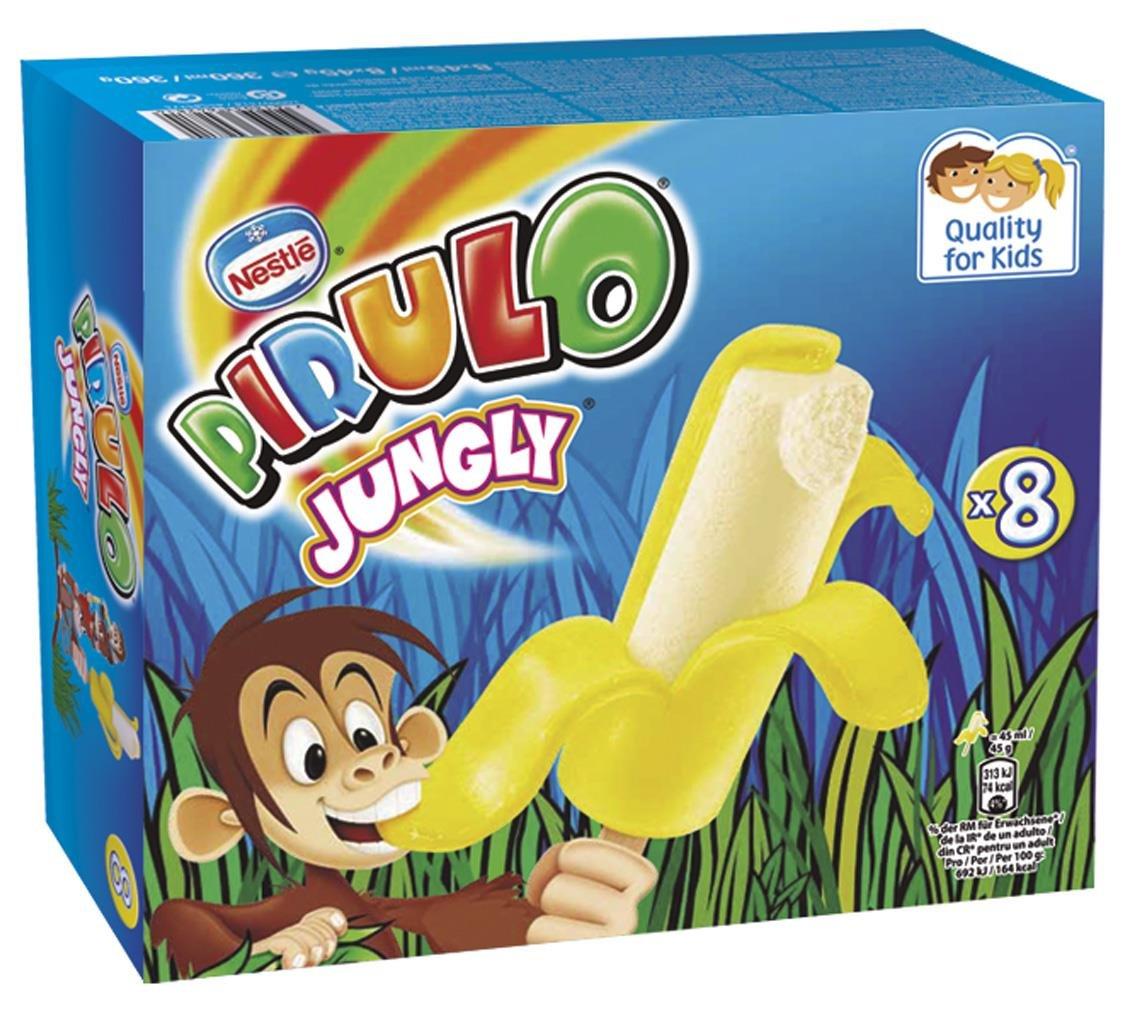 Pirulo Jungly Banana, Helado Sabor a Plátano - Paquete de 8 x Helados: Amazon.es: Alimentación y bebidas