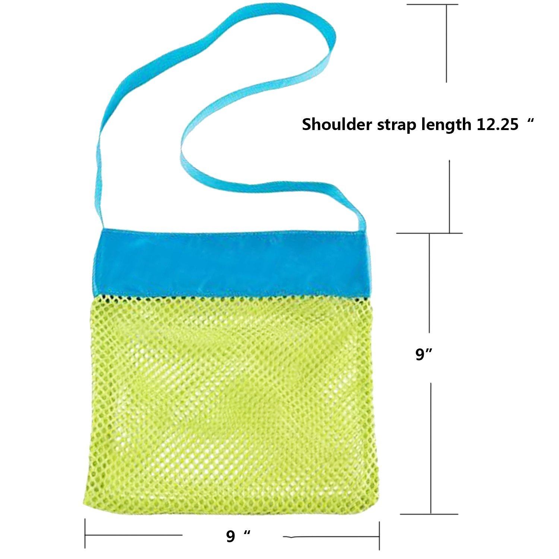 MODARANI Kid's Small Mesh Beach Bag Water Toy Tote Bag Crossbody Travel Bag for Boys Girls by MODARANI (Image #6)