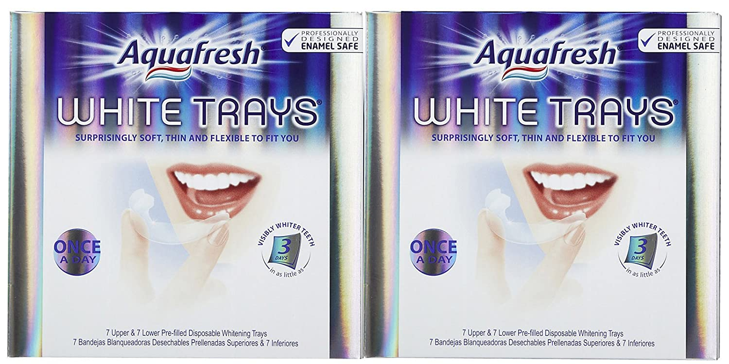 Amazon.com : Aquafresh Aquafresh White Trays For Whitening Teeth, 14 each (Pack of 2) : Tooth Whitening Products : Beauty