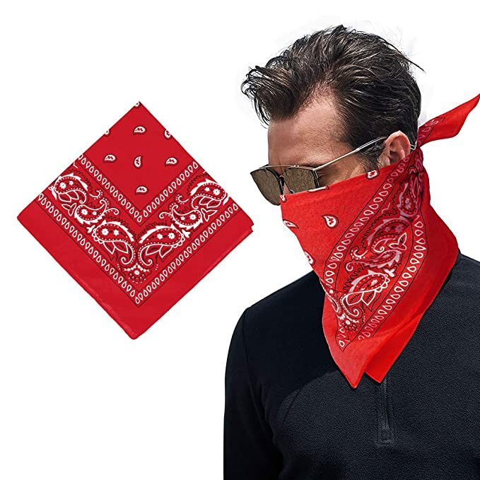 3-12PCS Bandana Lot Paisley Head Wrap Scarf 100/% Cotton Neck Mouth Face Cover US