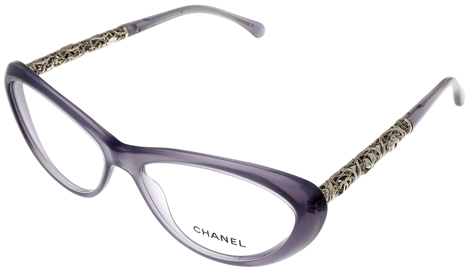 Amazon.com: Chanel Prescription Eyewear Frames Bijou Lilac Women ...