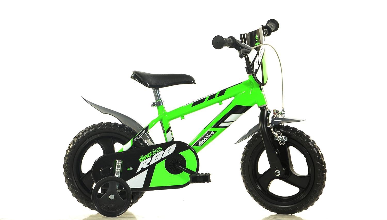 Jungen Kinderfahrrad grün Jungenfahrrad – 12 Zoll   TÜV geprüft   Original   Kinderrad mit Stützrädern - Das Fahrrad als Geschenk für Jungen
