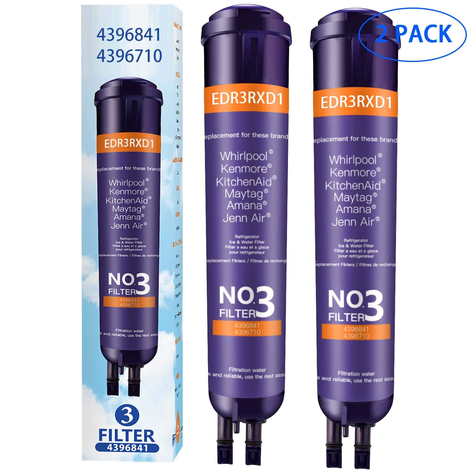 9083 Refrigerator Water Filter Replacement, Compatible with 46-9083 46-9030 46-9020 (Pack of 2)