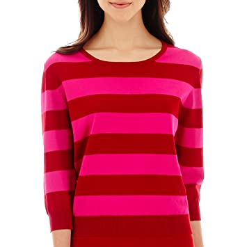 MNG by Mango 3/4-Sleeve Striped Sweater