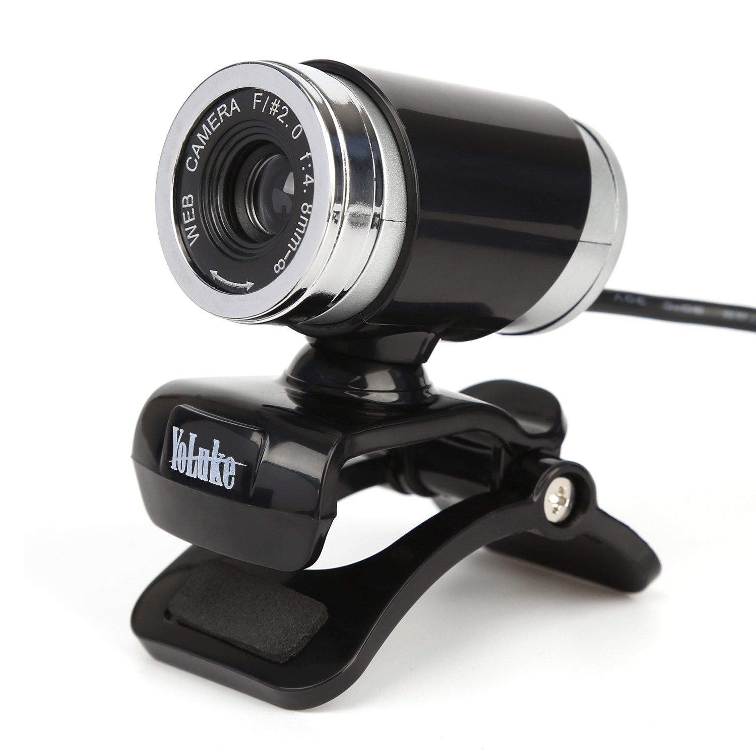 USB Webcam Video HD Web Camera with Built-in Sound Absorption Microphone(Black)