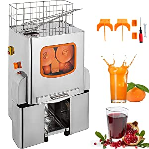 VEVOR Orange Juicer Orange Squeezer Machine Citrus Juicer Electric Fruit Juicer Machine Citrus Lemon Lime Automatic Auto Feed Commercial (Upgrade Design)