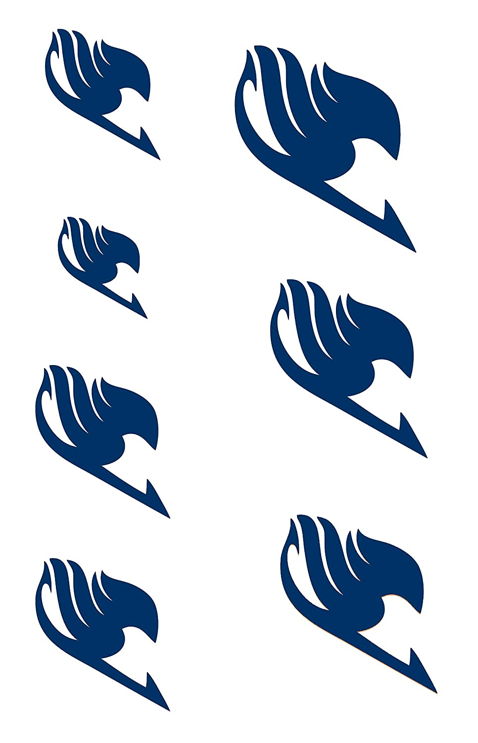 Extree Fairy Tail Dark Blue Temporary Tattoo For Gray Disposable Body Tattoo Paper For Kids