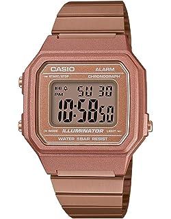 e9f0cb1aab32 Casio Reloj Digital para Hombre de Cuarzo con Correa en Acero Inoxidable  B650WC-5AEF