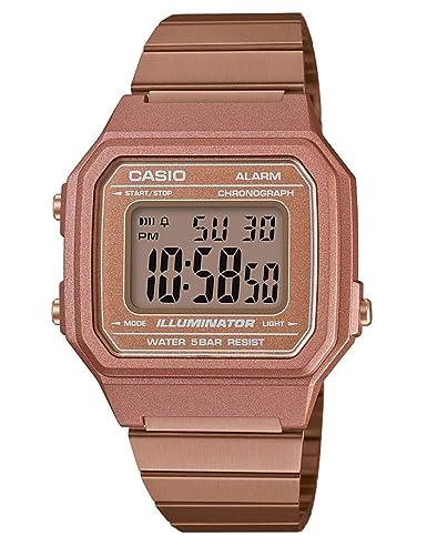 Casio Reloj Digital para Hombre de Cuarzo con Correa en Acero Inoxidable B650WC-5AEF: Amazon.es: Relojes