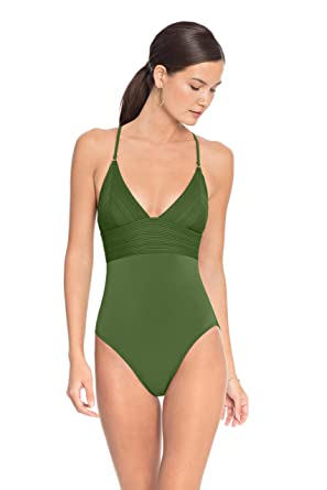 6e07451a97c78 Robin Piccone Women's Lily V Neck One Piece Swimsuit at Amazon Women's  Clothing store: