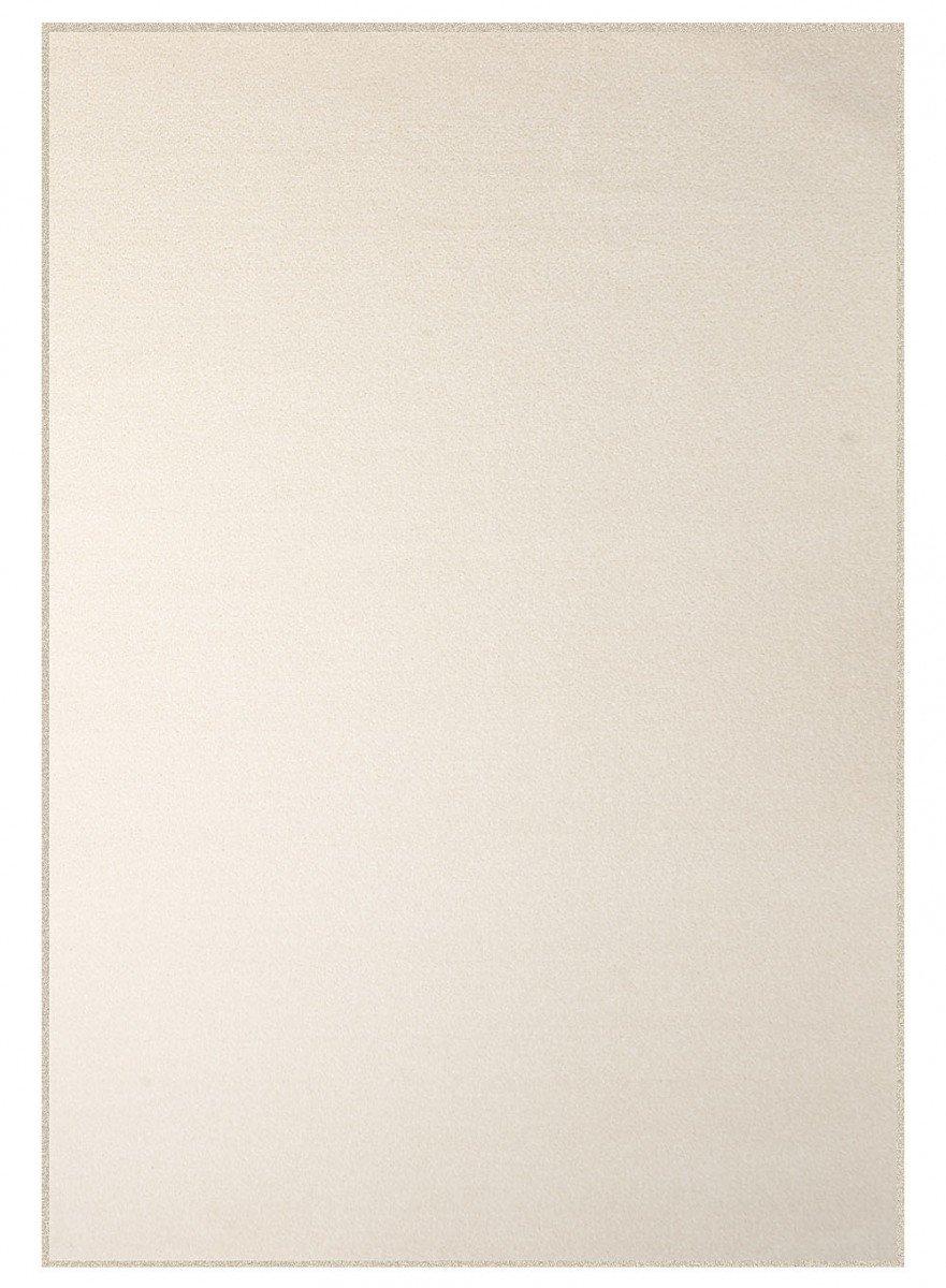 Havatex Velours Teppich Trend - schadstoffgeprüft und pflegeleicht   schmutzabweisend robust strapazierfähig   Wohnzimmer Schlafzimmer, Farbe Creme, Größe 160 x 180 cm