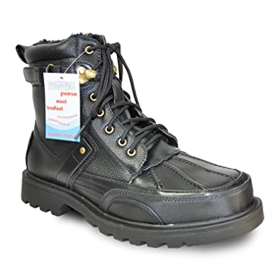 Men Winter Boot DEAN-9M Casual Boot Fur Lined and Memory Foam Footbed - Black