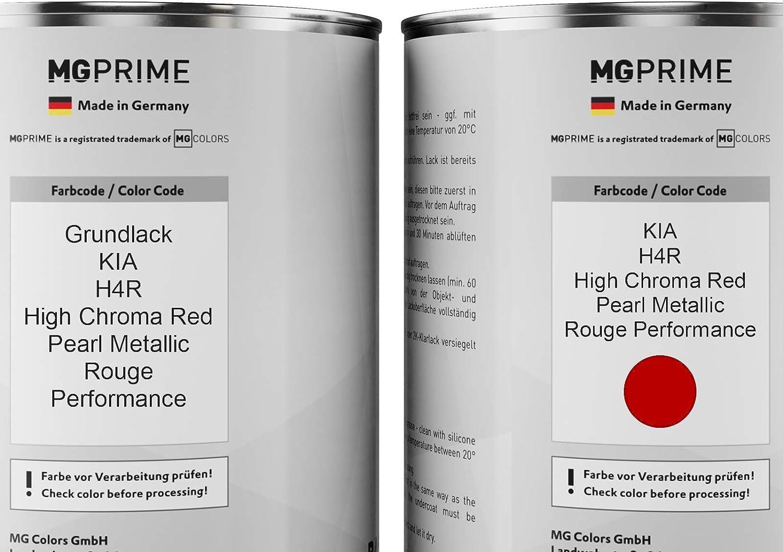 Mg Prime Autolack Set Dose Spritzfertig Für Kia H4r High Chroma Red Pearl Metallic Rouge Performance Grundlack Basislack 2 0 Liter 2000ml Auto