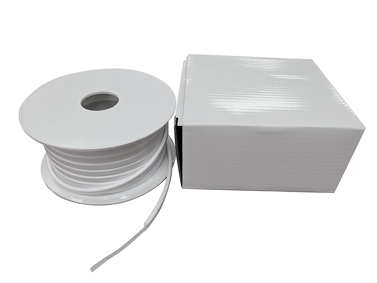 1500.12550 1500//Teadit 24B White PTFE Joint Sealant for Applications in Steel Glass Lined Sterling Seal and Supply Concrete Lids PVC and Fiber Glass Pipe Flanges 1//8 Wide Heat Exchangers STCC Fume Ducts 50 1//8 Wide 50/' Sur-Seal