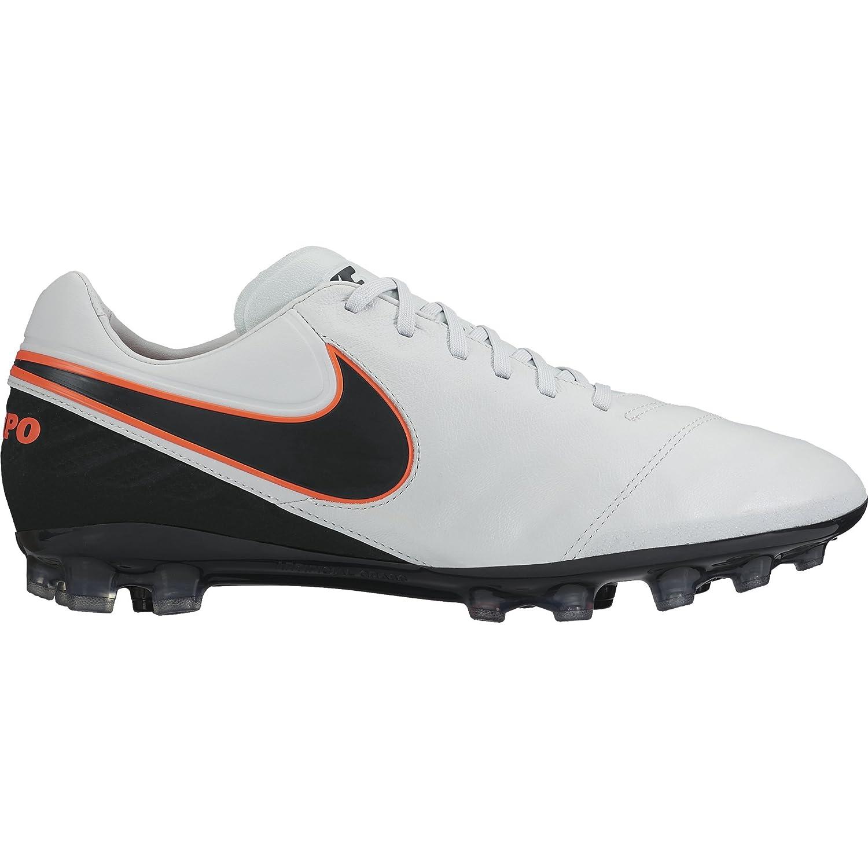 8732a17151495 Nike Men's Tiempo Legacy II AG-R Football Boots, Blanc/Noir/Orange ...