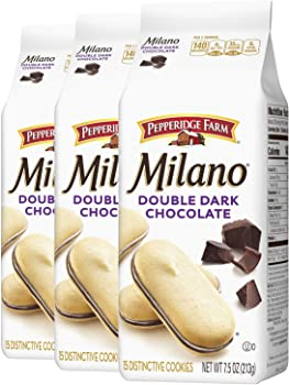 3-Pack Pepperidge Double Dark Chocolate Farm Milano Cookies 7.5 oz